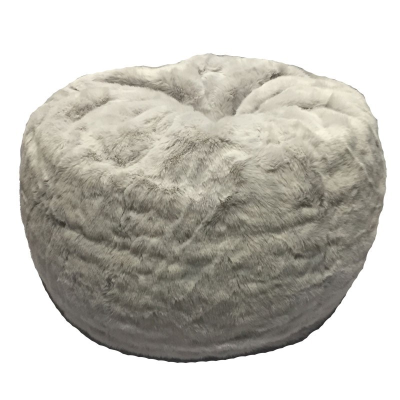 Bean Bag Chairs For Adult Fur Round Arctic Fox